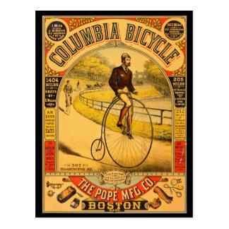 Vintage Columbia Bicycle Reprint Postcard