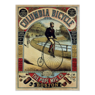 Vintage Columbia Bicycles Advertisement Poster