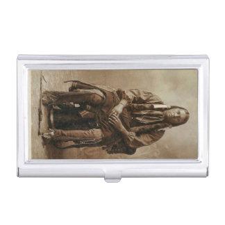 Vintage Comanche Nobel Warrior Native American Business Card Holders