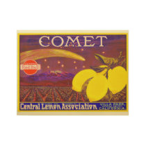 Vintage Comet Brand Lemon Crate Label