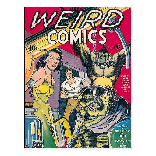 Vintage Book Cover Postcards : Vintage comic book cover art postcard zazzle