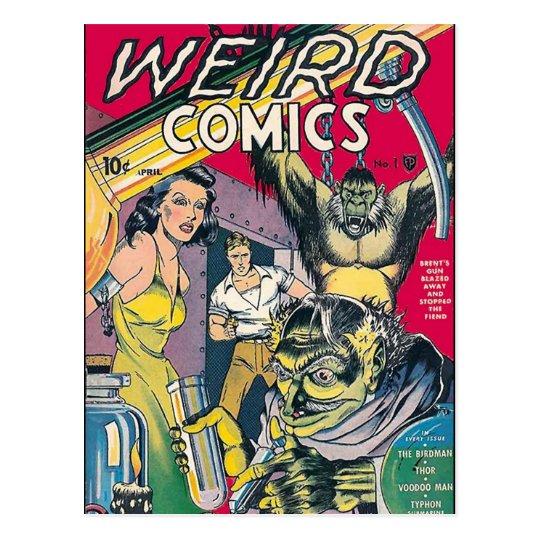 Vintage Comic Book Cover Art Postcard