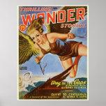 "Vintage Comic book cover ""Wonder"" Poster"