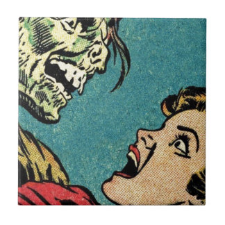 vintage comic book villan tile
