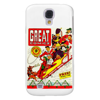 Vintage Comic Characters Galaxy S4 Cases