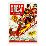 Vintage Comic Characters Stationery Note Card