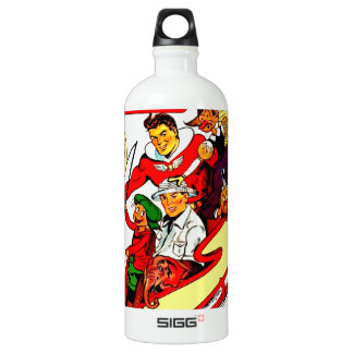 Vintage Comic Characters Water Bottle