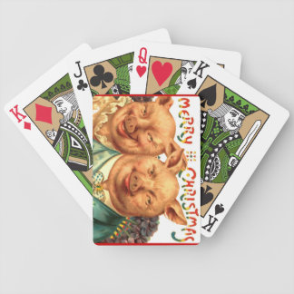 Vintage Comic Pig Lovers Christmas Hostess Gift Bicycle Playing Cards