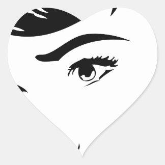 Vintage Comic Heart Sticker