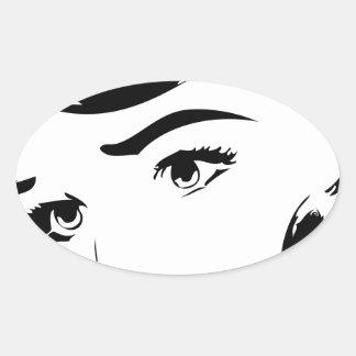 Vintage Comic Oval Sticker