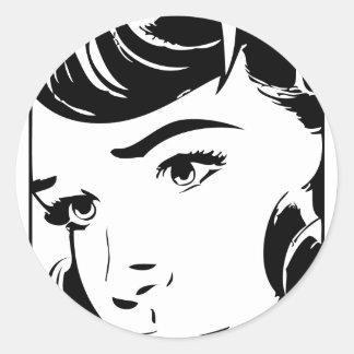 Vintage Comic Classic Round Sticker
