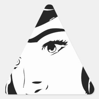Vintage Comic Triangle Sticker