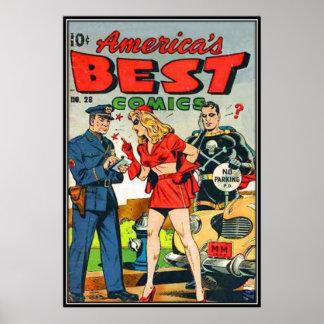 Vintage comic strips - posters