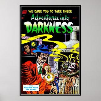 Vintage comic strips - poster