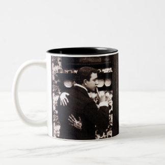 Vintage Comic Tryst Postcard Two-Tone Coffee Mug