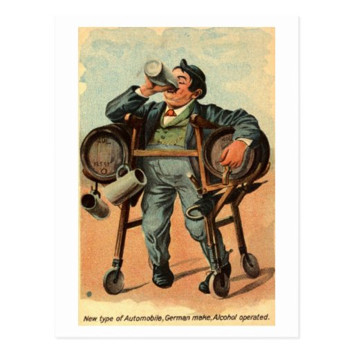 Vintage cómico 1910 del humor del automóvil alemán postales