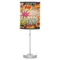 Vintage Comics Style Zap-Boom-Pow Table Lamp