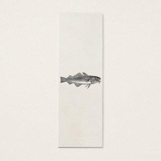 Vintage Common Cod Fish - Aquatic Fishes Template Mini Business Card