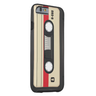 Vintage Compact Cassette tape red Tough iPhone 6 Case
