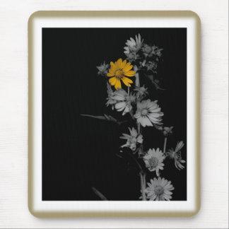 Vintage Compass Flower Mouse Pad