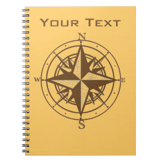 Vintage Compass Notebook