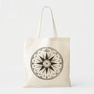 Vintage Compass Rose Budget Tote Bag