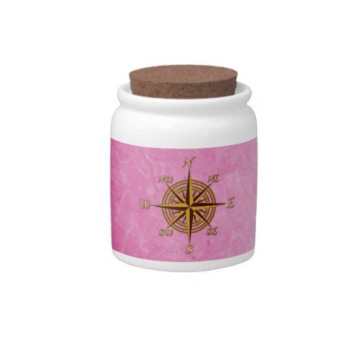 Vintage Compass Rose Candy Jars