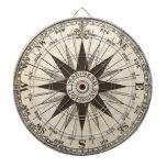 Vintage Compass Rose Dartboards