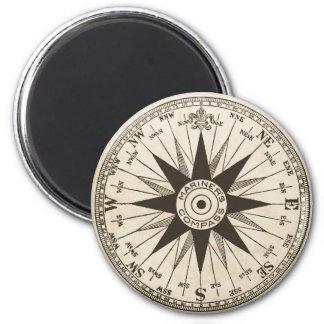 Vintage Compass Rose Magnet