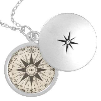 Vintage Compass Rose Necklace