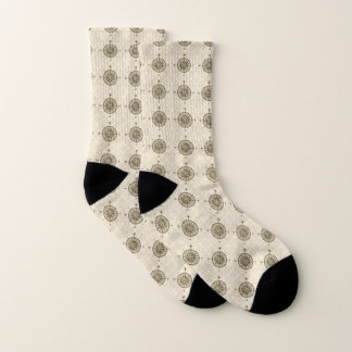 Vintage Compass Rose Socks