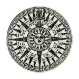 Vintage Compass Rose Sun Cutting Board