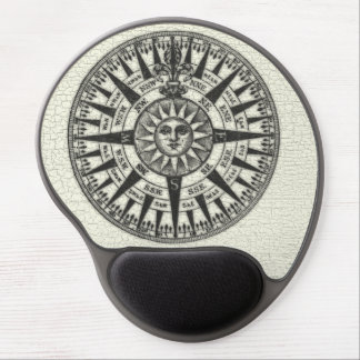 Vintage Compass Rose Sun Gel Mouse Pad