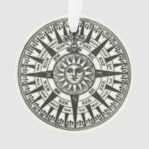 Vintage Compass Rose Sun Ornament