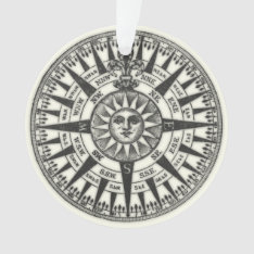 Vintage Compass Rose Sun Ornament at Zazzle