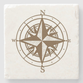 Vintage Compass Stone Coaster