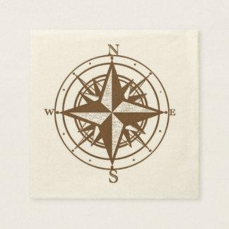 Vintage Compass Disposable Napkin