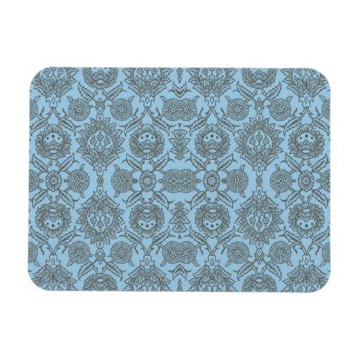 Vintage complejo floral - azul claro iman