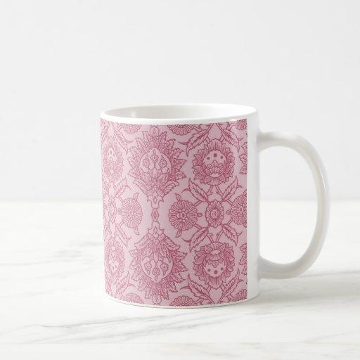 Vintage complejo floral - en rosa taza