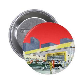 Vintage Complete Car Service Garage Auto Mechanics Button