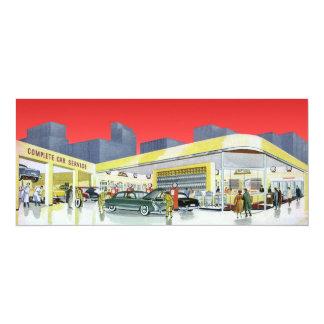 Vintage Complete Car Service Garage Auto Mechanics Personalized Announcement