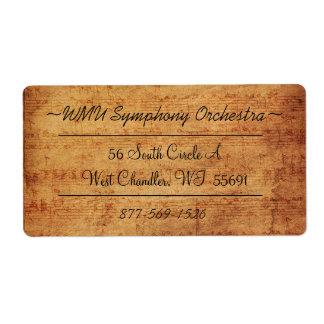Vintage Composer Address Labels