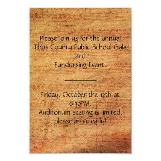 "Vintage Composer Custom Invitations 3.5"" x 5"""