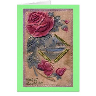 Vintage con toda la buena tarjeta de felicitación