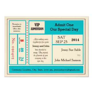 Vintage Concert Ticket Wedding Invitation