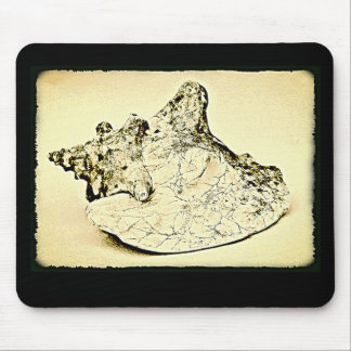 Vintage Conch Shell Mouse Pad
