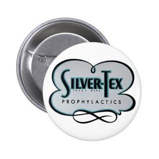 Vintage Condom Prophylactic Silver-Tex Brand Button