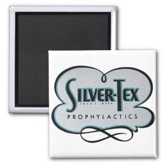 Vintage Condom Prophylactic Silver-Tex Brand Magnet