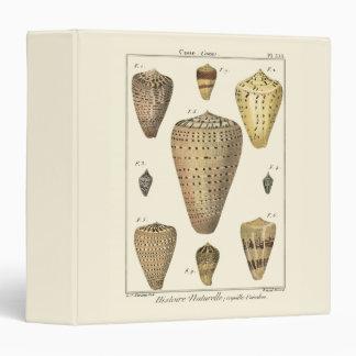 Vintage Cone Shells 3 Ring Binder
