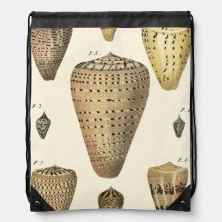 Vintage Cone Shells Backpacks